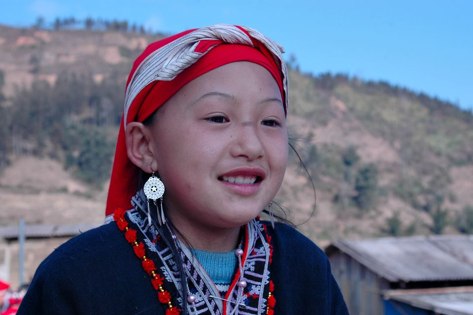 Red Dao hilltribe village in Giang Ha 3