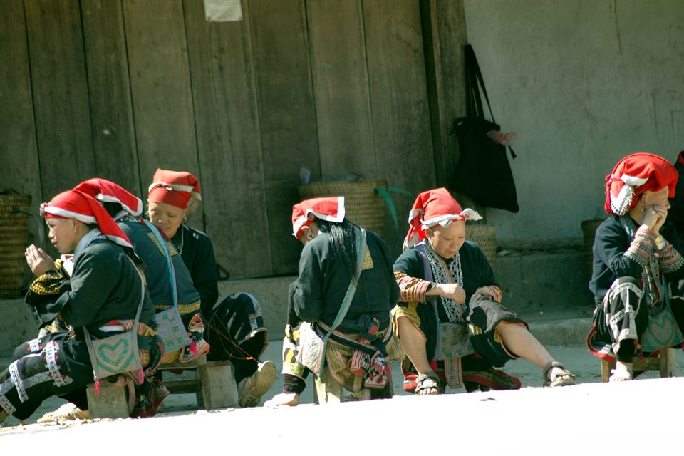 Red Dao hilltribe village in Giang Ha 2