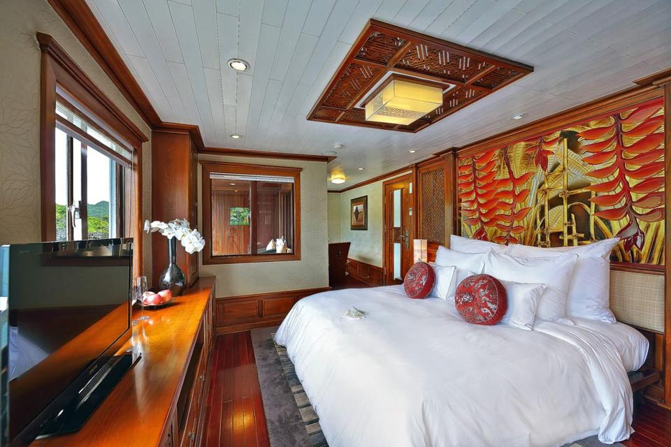 Relaxing bed on Paradise Cruise